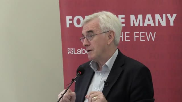 labour will seek to largely end the outsourcing of council contracts to private firms if it enters government shadow chancellor john mcdonnell says... - outsourcing video stock e b–roll
