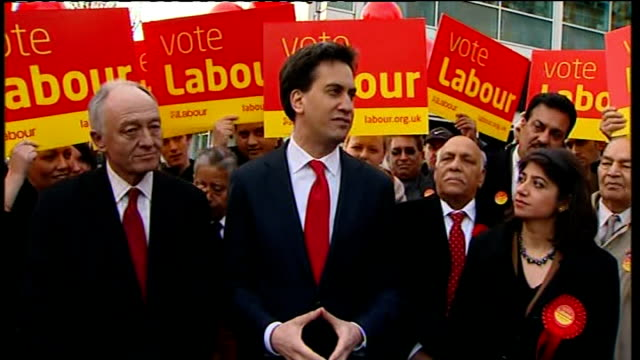 Labour wins Feltham and Heston byelection Seema Malhotra and Ed Miliband visit Feltham town centre Miliband speech SOT There's one other thing this...
