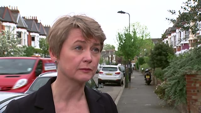 Yvette Cooper interview ENGLAND London EXT Yvette Cooper MP interview SOT