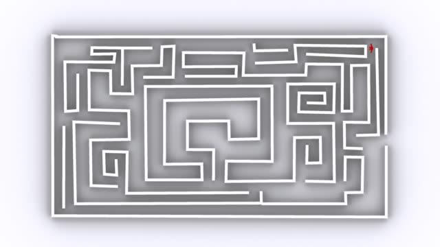 labyrinth 人々_b - 入る点の映像素材/bロール