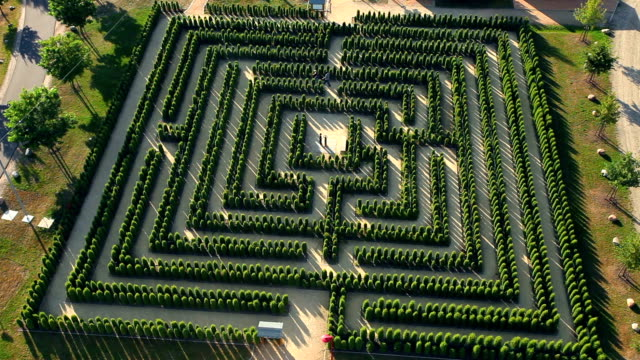 labyrinth - time lapse - maze stock videos & royalty-free footage