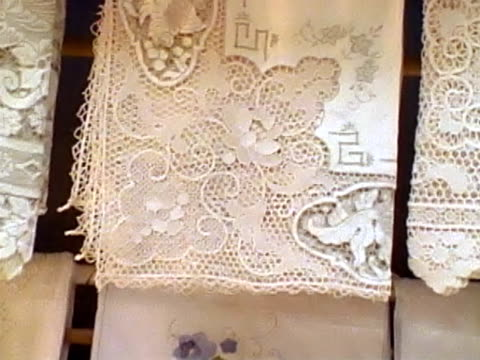 lace - lace textile stock videos & royalty-free footage