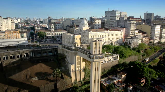 elevador lacerda - salvador, bahia - bahia state stock videos and b-roll footage