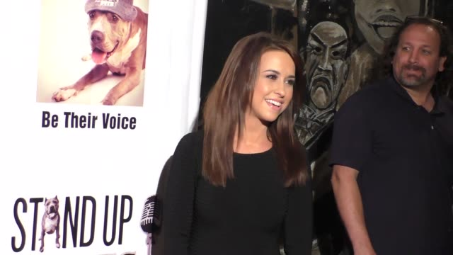 lacey chabert at stand up for pits comedy benefit at the improv comedy club in west hollywood in celebrity sightings in los angeles, - スケッチコメディー点の映像素材/bロール