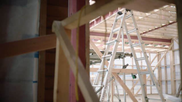 Ladder in building site