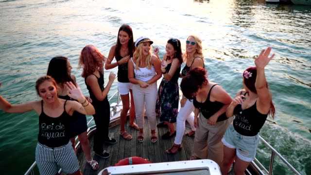 ladies celebrating bachelorette party - ladies' night stock videos and b-roll footage