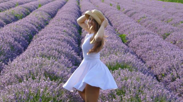 vídeos y material grabado en eventos de stock de damas en lavanda - bulgaria