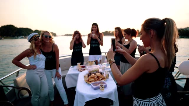 Ladies making memories of bachelorette party