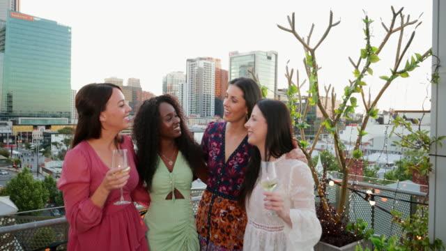 ladies night - after work stock videos & royalty-free footage