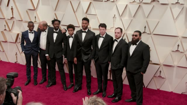 vidéos et rushes de ladj ly djibril zonga issa perica and alexis manenti at the 92nd annual academy awards at the dolby theatre on february 09 2020 in hollywood... - cérémonie des oscars