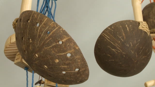 ladle made of coconut shell - ladle stock videos & royalty-free footage