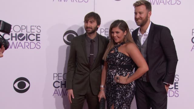 Lady Antebellum at People's Choice Awards 2015 in Los Angeles CA
