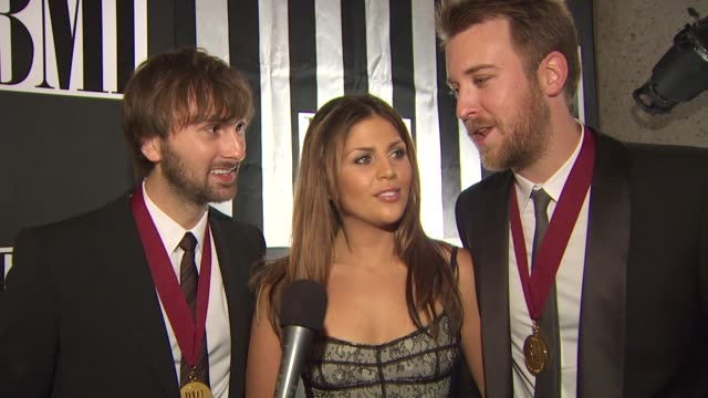 lady antebellum on their success over the last year at the bmi country awards at nashville tn - zuletzt stock-videos und b-roll-filmmaterial
