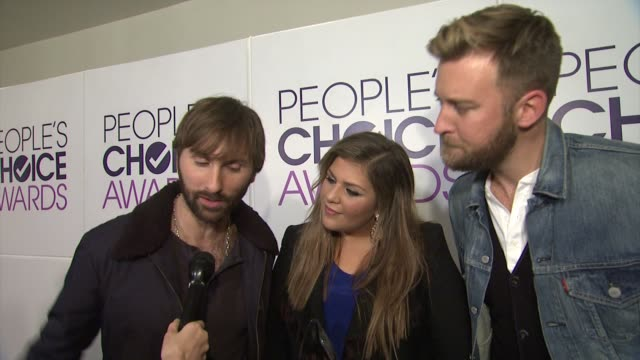 INTERVIEW Lady Antebellum on what this particular award means to them at People's Choice Awards 2015 in Los Angeles CA