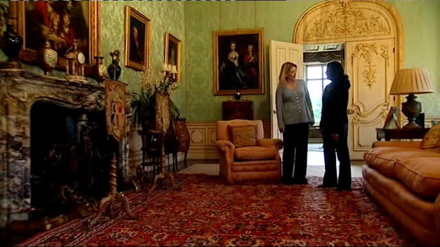 INT Lady Carnarvon interview SOT General views of rooms in Highclere Castle Lady Carnarvon interview SOT