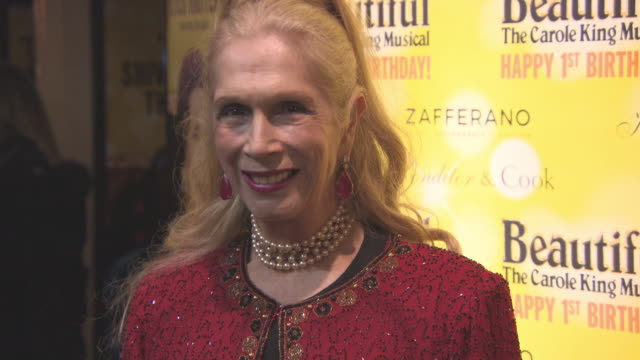 lady colin campbell at beautifulthe carole king musical's birthday celebrations at aldwych theatre on february 23 2016 in london england - aldwych theatre stock videos & royalty-free footage