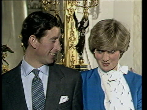 vidéos et rushes de lady diana spencer speaks of being in love to which prince charles responds - embarras