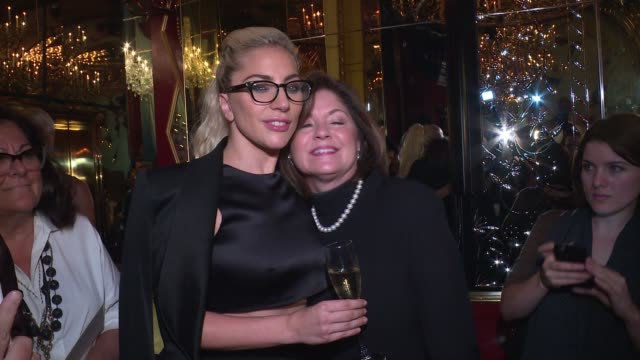 Lady Gaga and Pam Woolley at BRANDON MAXWELL SPRING/SUMMER 2017 at Russian Tea Room on September 13 2016 in New York City