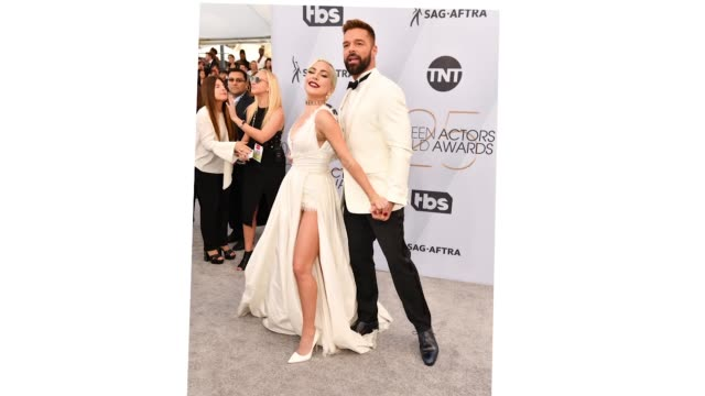 lady gaga and ricky martin attend the 25th annual screen actors guild awards at the shrine auditorium on january 27 2019 in los angeles california - lady gaga gifs stock videos & royalty-free footage