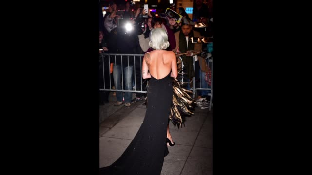 lady gaga arrives to the 2019 national board of review gala at cipriani 42nd street on january 8 2019 in new york city - lady gaga gifs stock videos & royalty-free footage