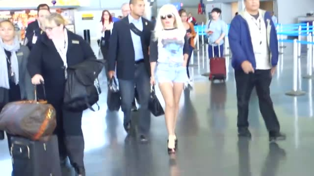 lady gaga arriving at jfk airport in new york at celebrity sightings in new york on october 06, 2015 in new york city. - kennedy airport stock videos & royalty-free footage