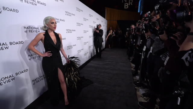 GIF Lady Gaga at 2019 National Board Of Review Gala at Cipriani 42nd Street on January 08 2019 in New York City