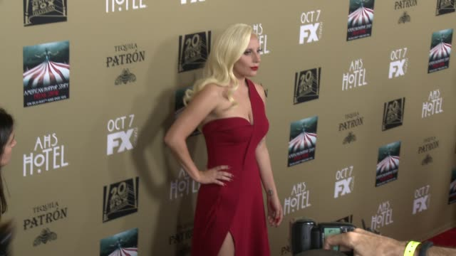 Lady Gaga at FX's American Horror Story Hotel Los Angeles Premiere at Regal Cinemas LA Live on October 03 2015 in Los Angeles California