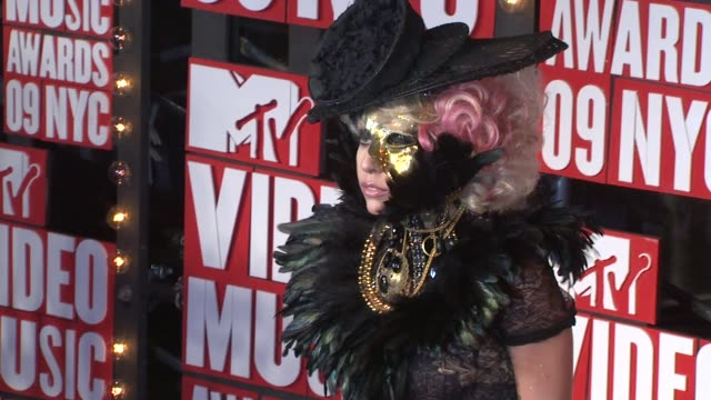 Lady Gaga at the 2009 MTV Video Music Awards at New York NY