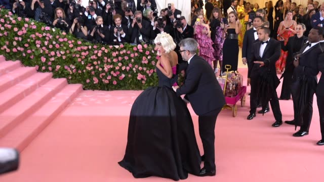 lady gaga at the 2019 met gala celebrating camp notes on fashion arrivals at metropolitan museum of art on may 06 2019 in new york city - lady gaga stock videos & royalty-free footage