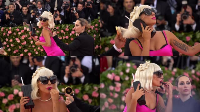 Lady Gaga at The 2019 Met Gala Celebrating Camp Notes on Fashion Arrivals at Metropolitan Museum of Art on May 06 2019 in New York City