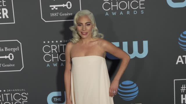 lady gaga at the 24th annual critics' choice awards at barker hangar on january 13 2019 in santa monica california - lady gaga stock videos & royalty-free footage