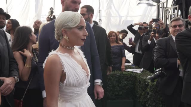 lady gaga at the 25th annual screen actors guild awards social ready content at the shrine auditorium on january 27 2019 in los angeles california - 映画俳優組合点の映像素材/bロール