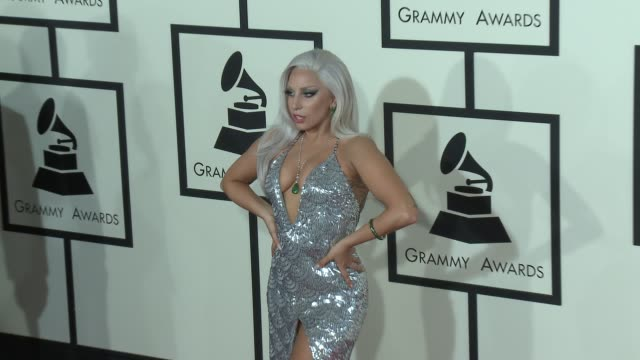 Lady Gaga at The 57th Annual Grammy Awards Red Carpet at Staples Center on February 08 2015 in Los Angeles California