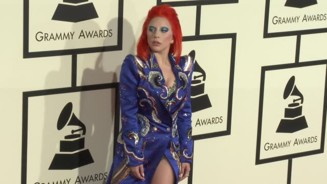 Lady Gaga at the 58th Annual GRAMMY Awards® Arrivals at Staples Center on February 15 2016 in Los Angeles California