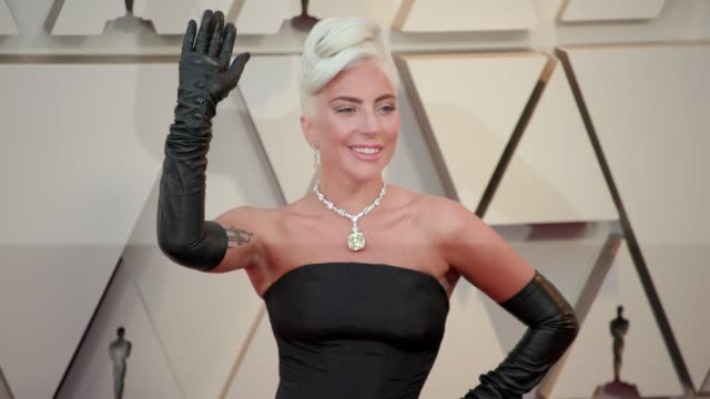 lady gaga at the 91st academy awards arrivals at dolby theatre on february 24 2019 in hollywood california - academy awards stock videos & royalty-free footage