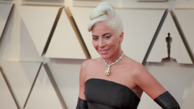lady gaga at the 91st academy awards arrivals at dolby theatre on february 24 2019 in hollywood california - oscars stock videos & royalty-free footage