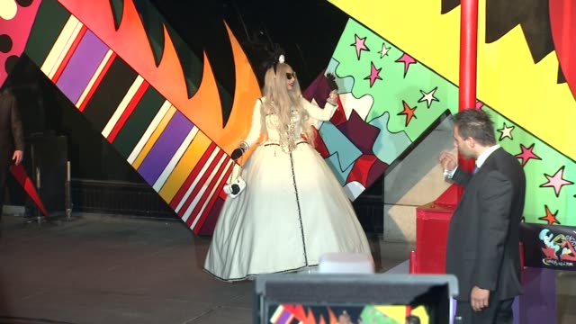 Lady Gaga at the Barneys New York Celebrates The Launch Of Gaga's Workshop With Ribbon Cutting Ceremony at New York NY