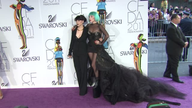 Lady Gaga at the The 2011 CFDA Fashion Awards at New York NY