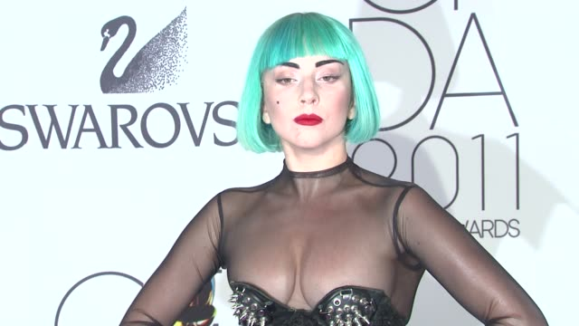 lady gaga at the the 2011 cfda fashion awards at new york ny - lady gaga stock videos & royalty-free footage