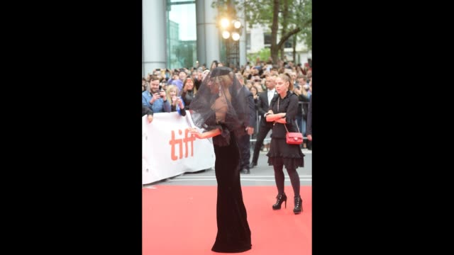 lady gaga attends the 'a star is born' premiere during 2018 toronto international film festival at roy thomson hall on september 9 2018 in toronto... - lady gaga gifs stock videos & royalty-free footage