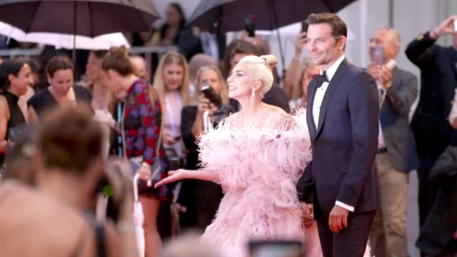 gif lady gaga bradley cooper attend 'a star is born' red carpet during the 75th venice international film festival on august 28 2018 in venice italy - lady gaga gifs stock videos & royalty-free footage