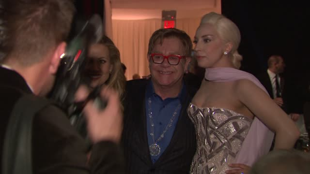 lady gaga elton john and sheryl crow at the elton john aids foundation presents 22nd annual academy awards viewing party sponsored by chopard neuro... - sheryl crow stock videos & royalty-free footage