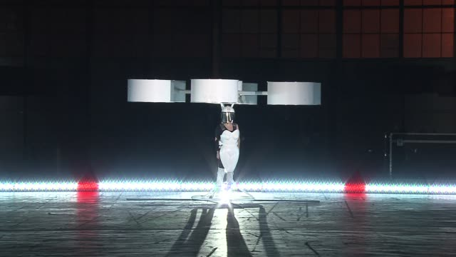 Lady Gaga flies Volantis at Lady Gaga Presents artRave Event at the Brooklyn Navy Yard on 11/10/13 in Brooklyn NY