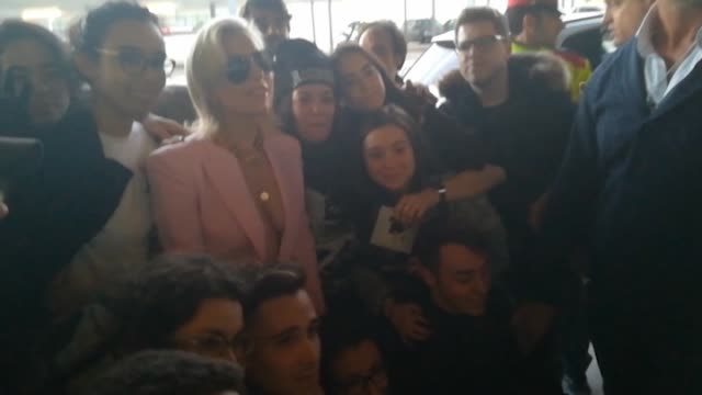Lady Gaga is seen arriving at Barcelona the day before performing in concert