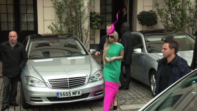 Lady Gaga leaves her central London hotel to appear on a television show before leaving London to go to Manchester SIGHTED Lady Gaga on November 16...