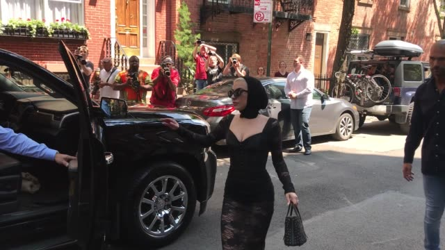 lady gaga leaves her condo in the west village on may 29 2018 in new york city - lady gaga stock videos & royalty-free footage