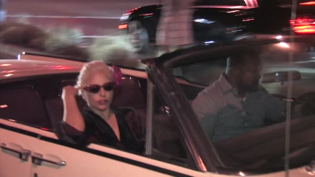 lady gaga leaves pump restaurant in west hollywood in celebrity sightings in los angeles, - west hollywood stock-videos und b-roll-filmmaterial