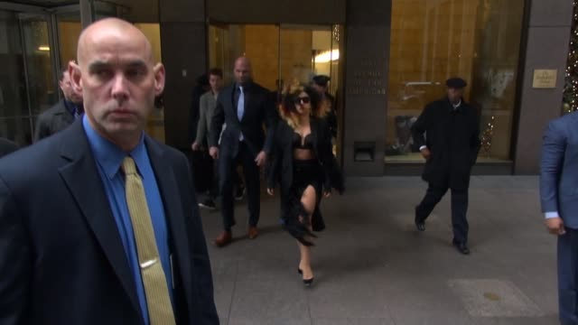 Lady Gaga leaves siriusXM Satellite Radio in Celebrity Sightings in New York