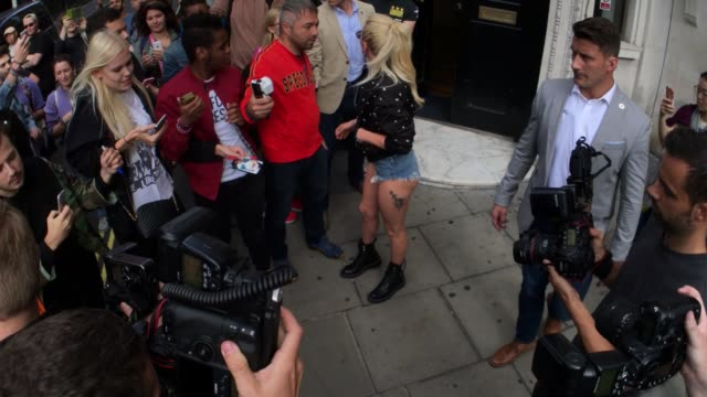 Lady GaGa leaving Bauer Media at Celebrity Sightings in London on September 9 2016 in London England