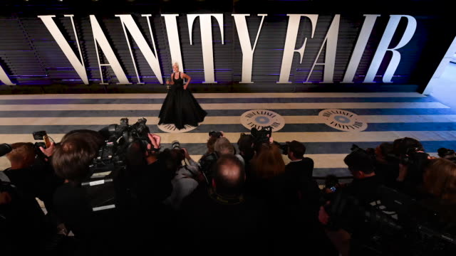 Lady Gaga Olivia Colman Regina King Spike Lee Ruth E Carter and more at the 2019 Vanity Fair Oscar Party hosted by Radhika Jones at Wallis Annenberg...